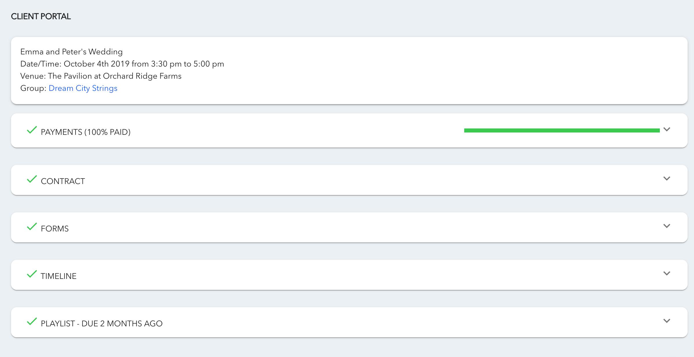 Image of client portal
