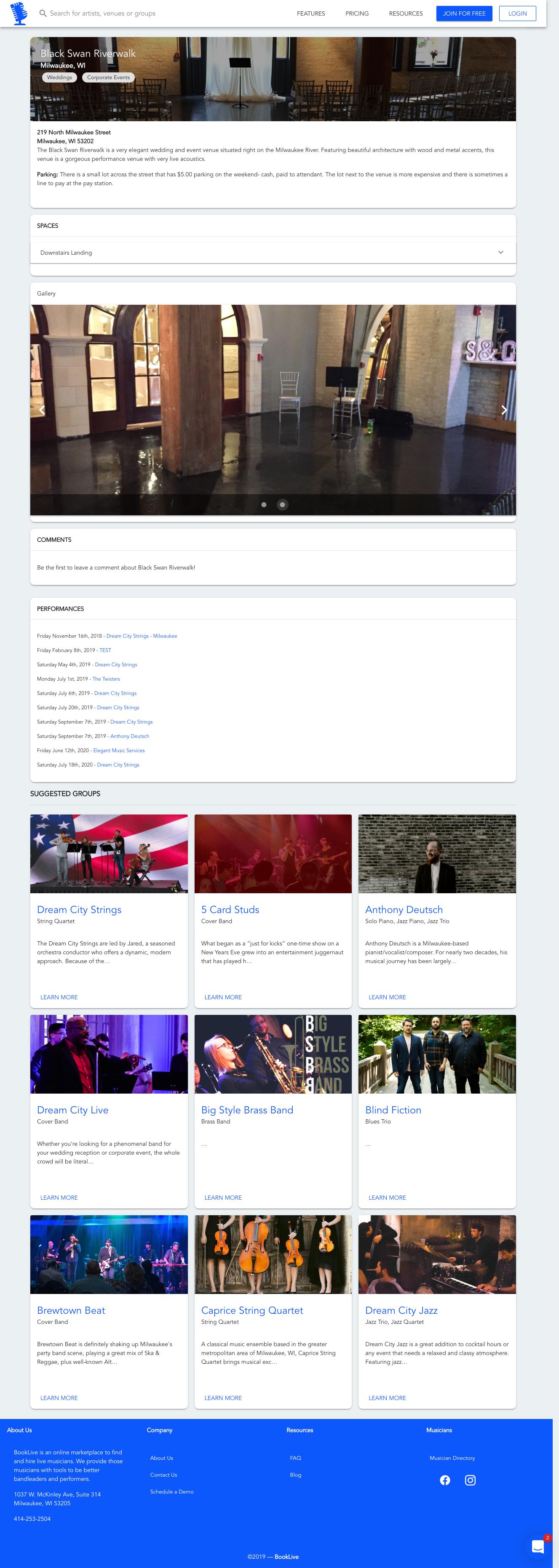 Venuepedia Screenshot